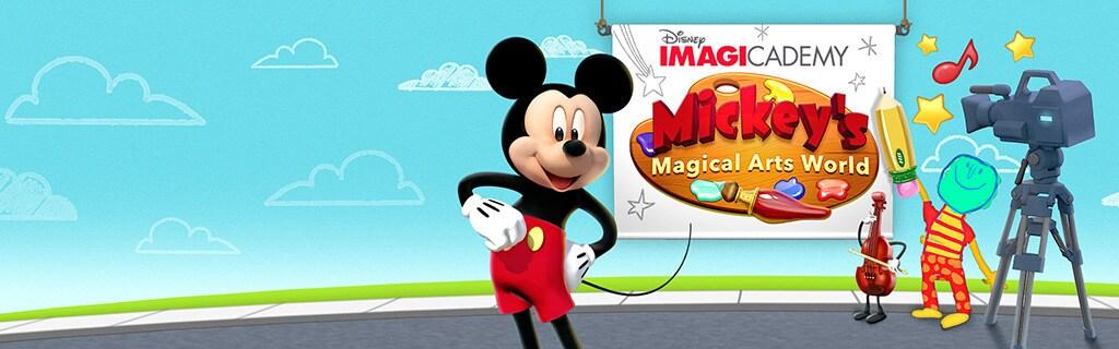 Imagicademy - Mickeys Magical Arts World - App Page - Hero AU
