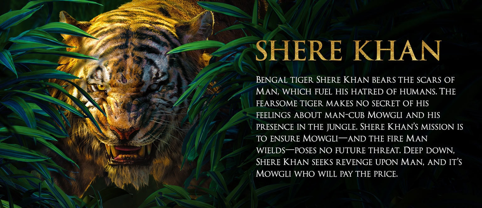 Jungle Book Characters Hero - Shere Khan