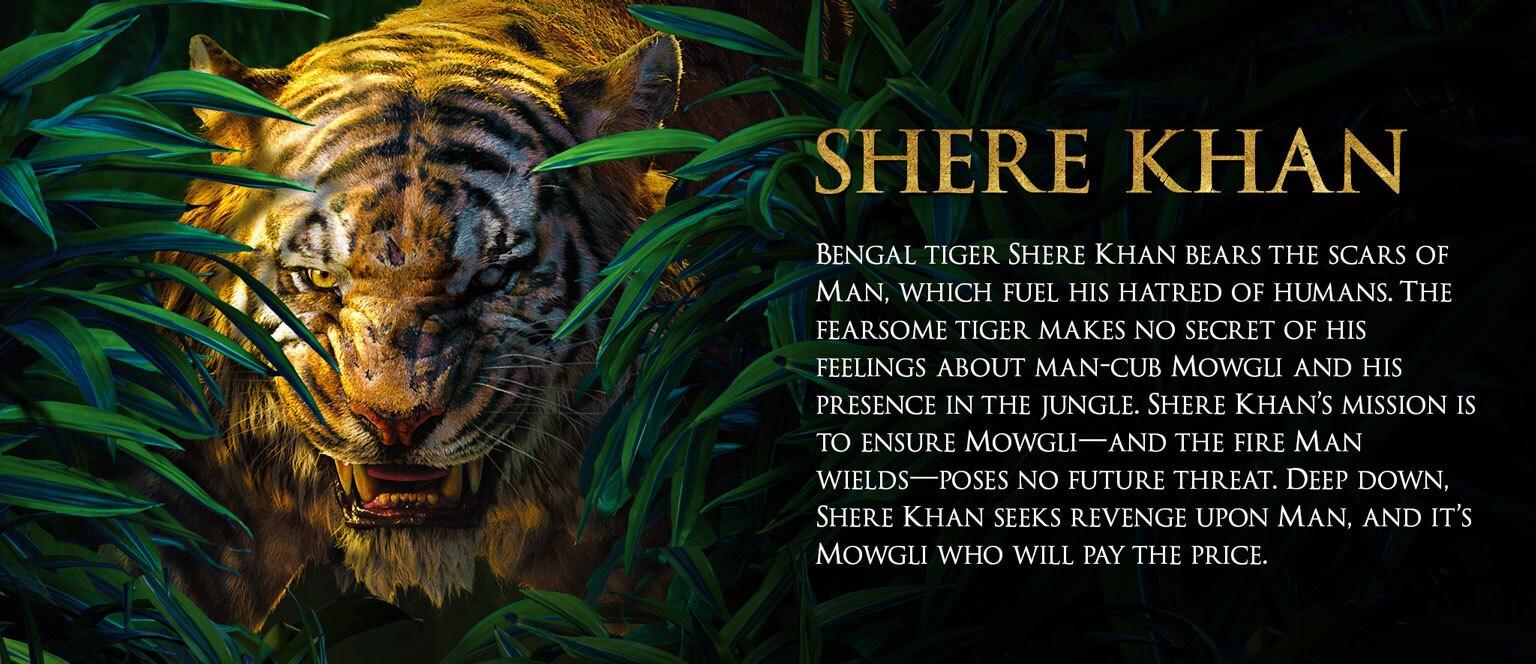 Jungle Book Characters Hero - Shere Khan