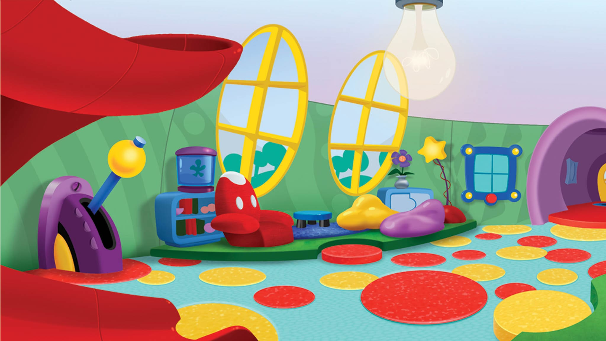 What Color Paint Kitchen Mickey Mouse Clubhouse Background Www Pixshark Com