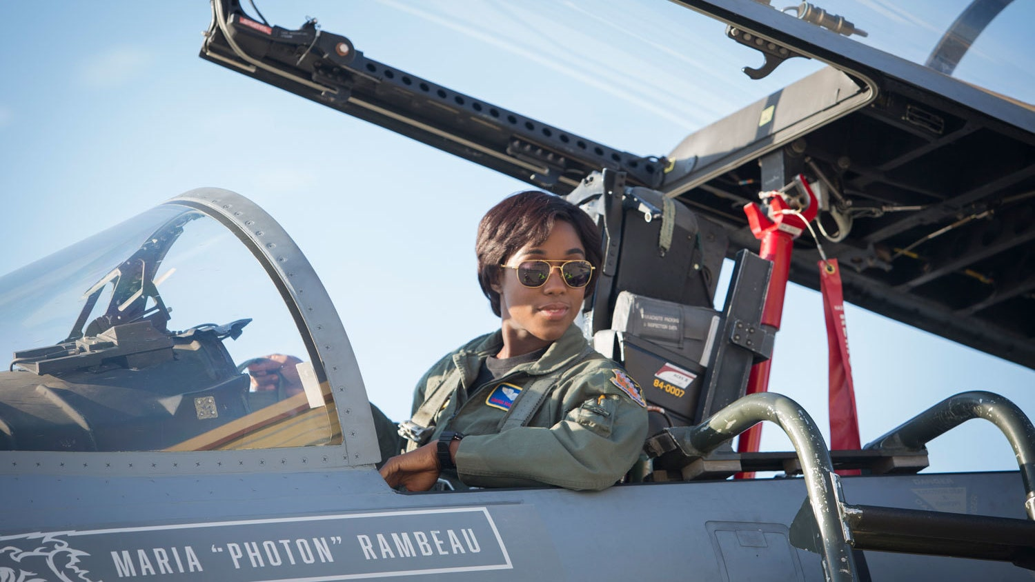Lashana Lynch as Maria Rambeau in Captain Marvel