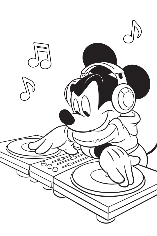 Disney Remix coloring page