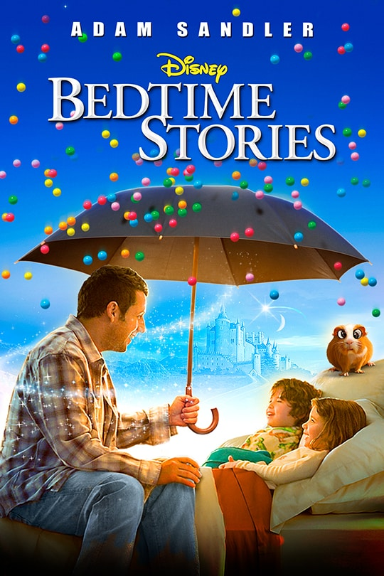 Adam Sandler, Disney Bedtime Stories movie poster