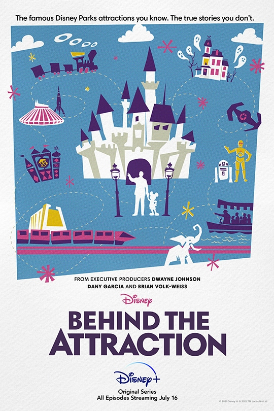 The famous Disney Parks attractions you know. The true stories you don't. | Disney | Behind the Attraction | Disney+ | Original Series | All episodes streaming July 16.