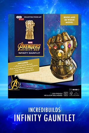 Marvel Avengers Infinity War Infinity Gauntlet Book and 3D Wood Model Kit