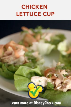 Chicken Lettuce Cup