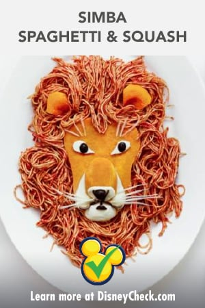 Healthy Living - Recipe - The Lion King 2019 - Simba Spaghetti & Squash