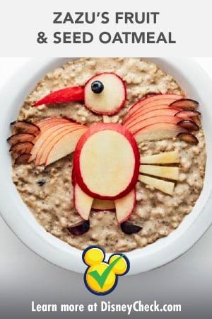 Healthy Living - Recipe - The Lion King 2019 - Zazu Fruit and Seed Oatmeal