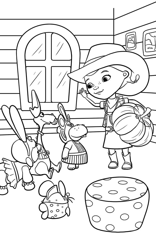 Doc Halloween Party Coloring Sheet