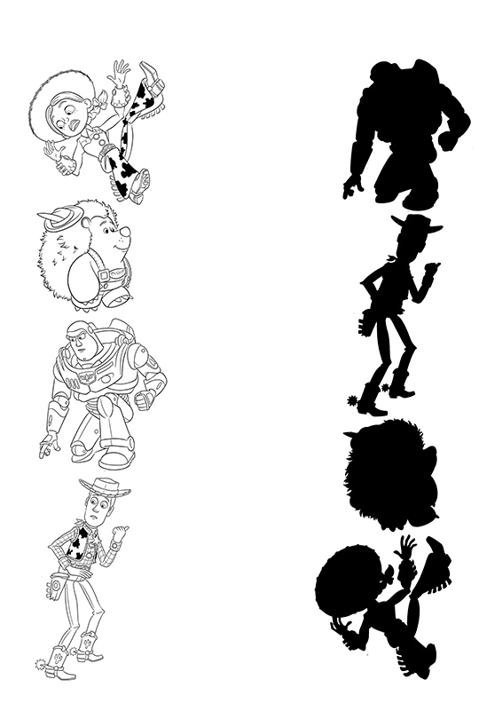 Toy Story Shadow Halloween Activity Sheet
