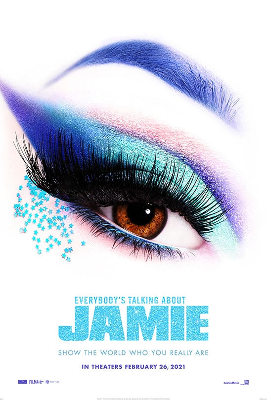 Everybody's Talking About Jamie | poster image of an eye with makeup