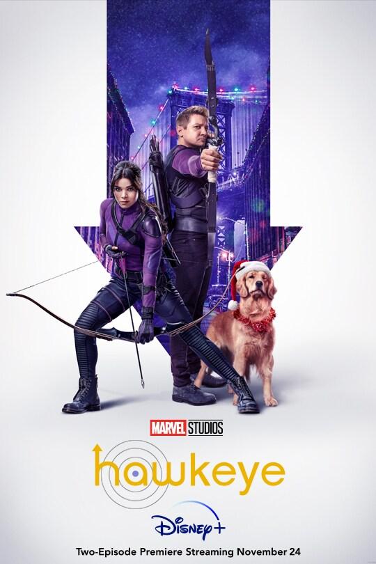 Marvel Studios | Hawkeye | Disney+ | Two episode premiere streaming November 24 | movie poster