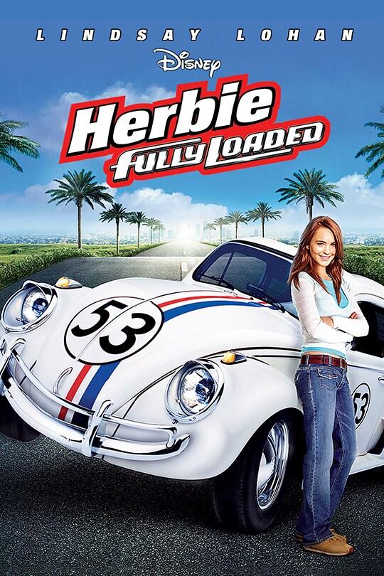 Lindsay Lohan in Disney Herbie Fully Loaded movie poster