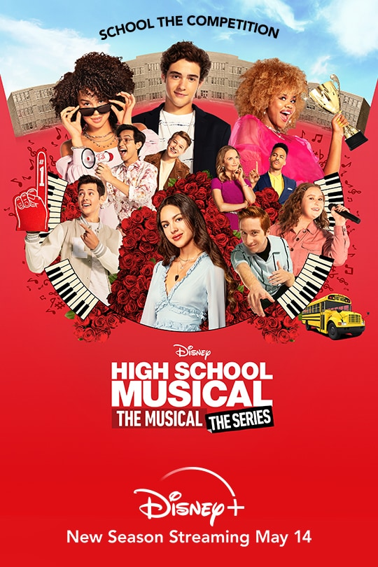 School the Competition | Disney | High School Musical: The Musical: The Series | Disney+ | New Season Streaming May 14 | movie poster