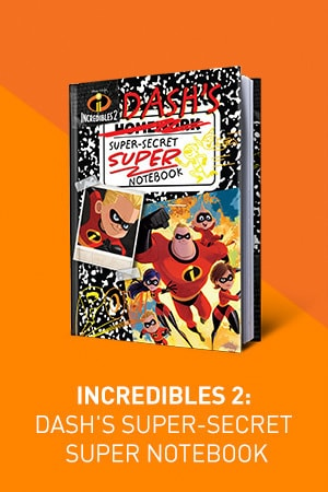 Disney Pixar Incredibles 2: Dash's Super-Secret Super Notebook
