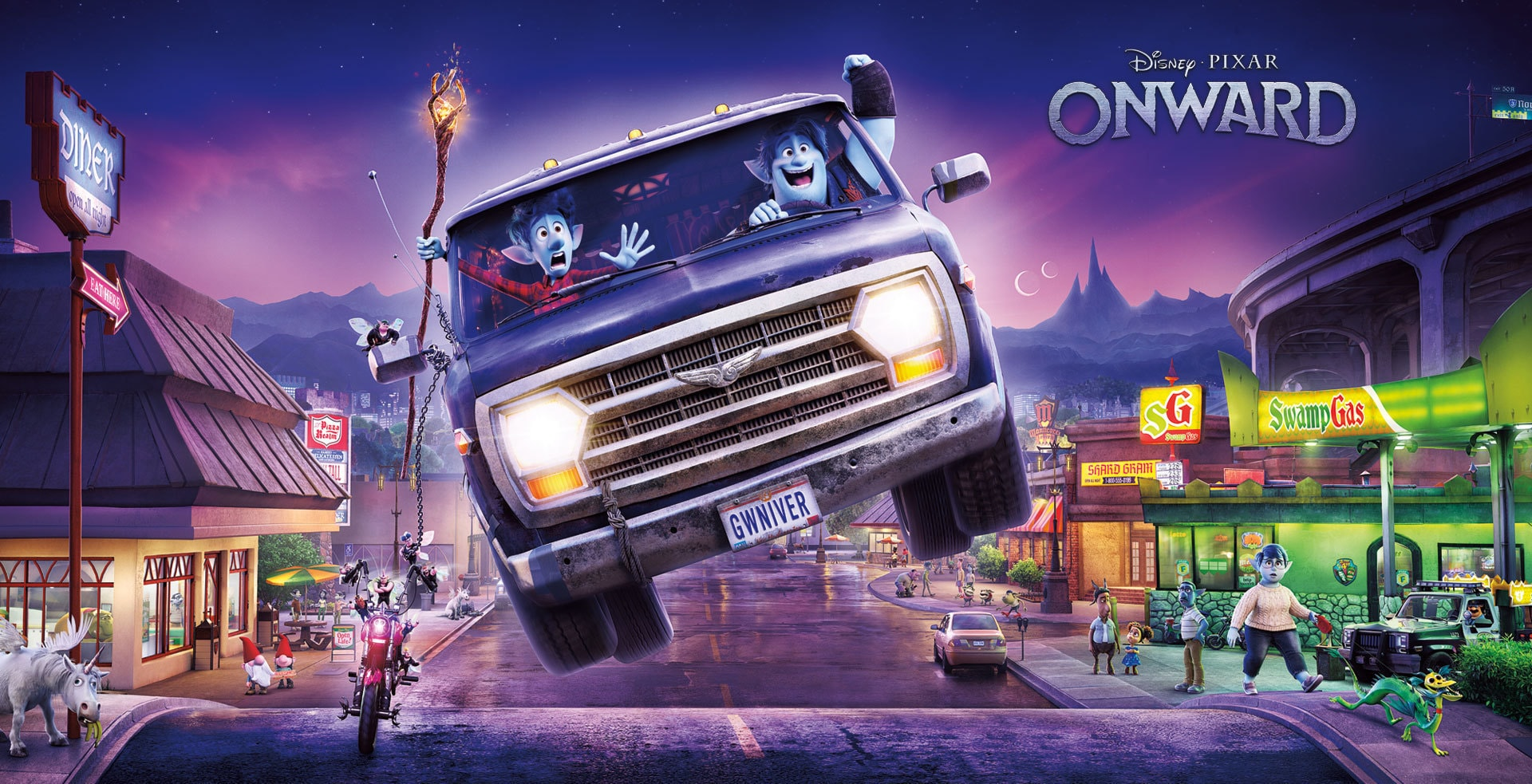 Disney and Pixar's Onward Movie Page Hero Banner