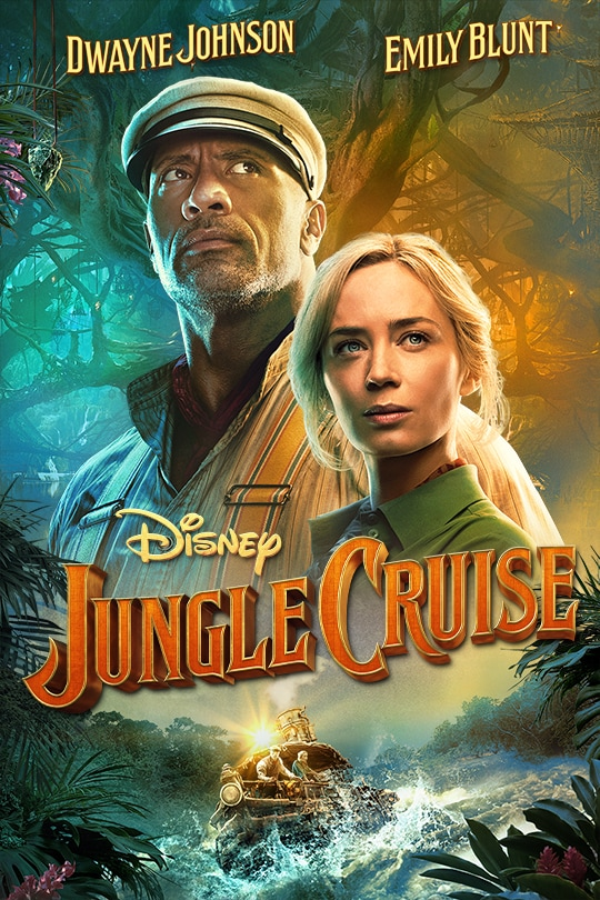 Dwayne Johnson | Emily Blunt | Disney | Jungle Cruise movie poster