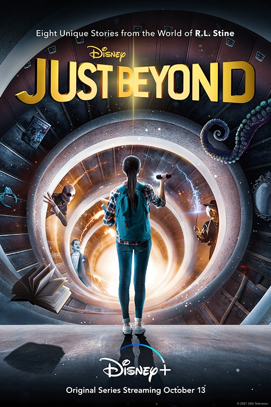 Eight unique stories from the world of R.L. Stine. | Disney | Just Beyond | Disney+ | Original series streaming October 13.