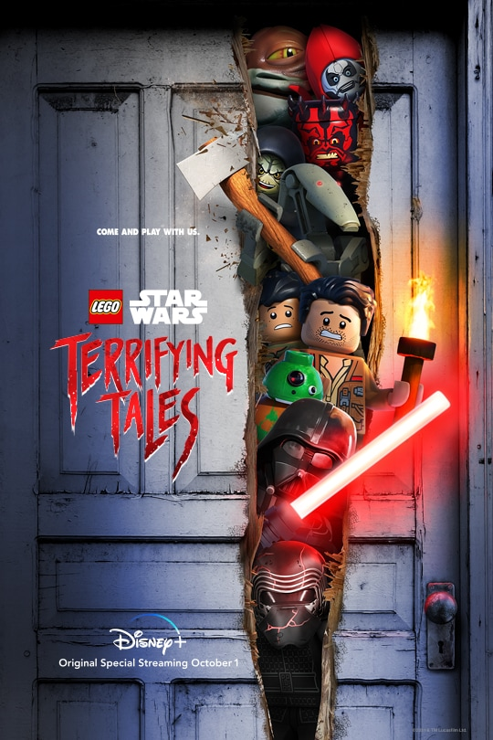 Come and play with us. | LEGO Star Wars | Terrifying Tales | Disney+ | Original Special streaming October 1 | movie poster
