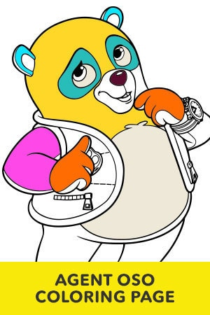 Special Agent Oso Coloring Page