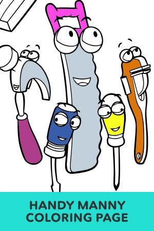 Handy Manny Tools Coloring Page