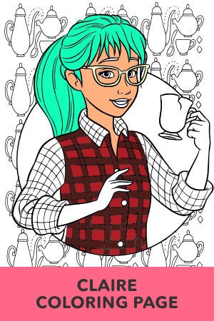 Claire Coloring Page