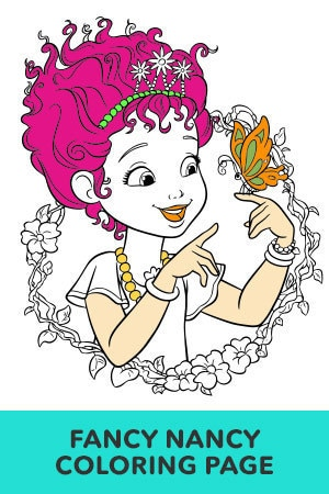 Fancy Nancy Coloring Page