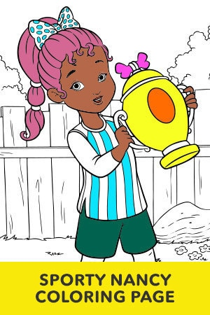 Sporty Nancy Coloring Page