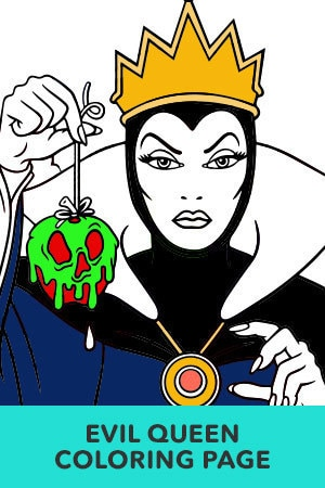 The Evil Queen Coloring Page