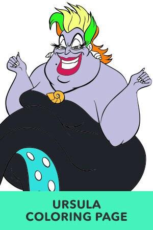 Ursula Coloring Page