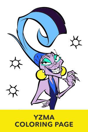 Yzma Coloring Page