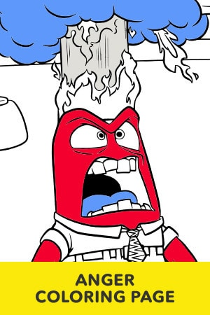 Anger Coloring Page