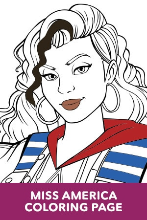 Miss America Coloring Page