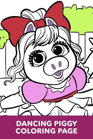 Dancing Piggy Coloring Page