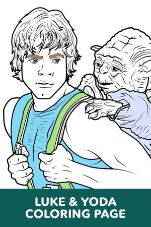 Luke and Yoda Coloring Page