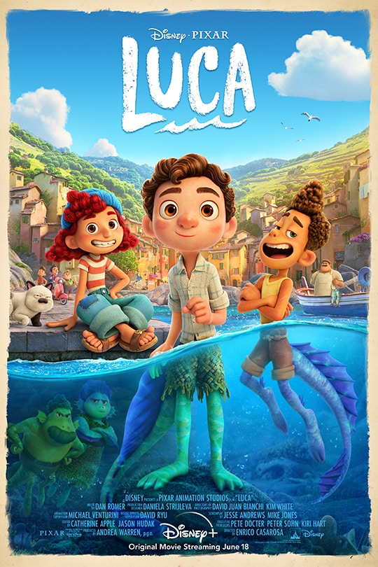 Disney•Pixar | Luca | Disney+ | Original movie streaming June 18 | movie poster