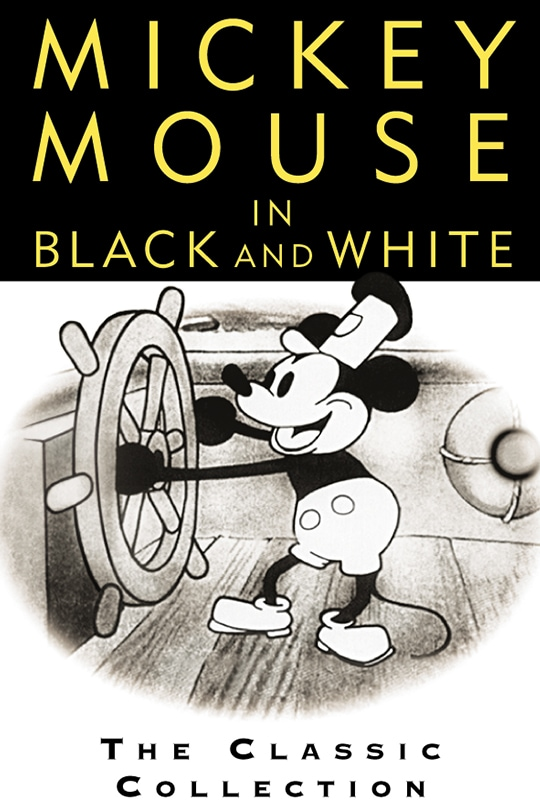 Mickey Mouse In Black And White poster