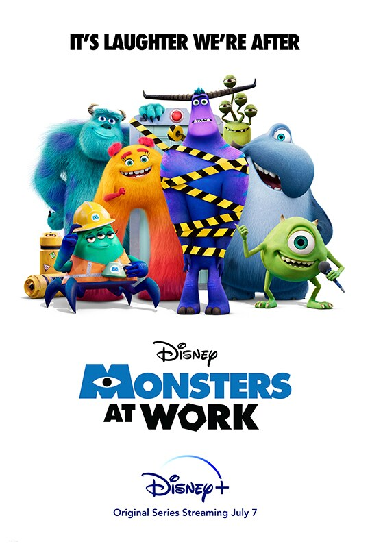 It's Laughter We're After   Disney   Monsters at Work   Disney+   Original Series Streaming July 7   movie poster