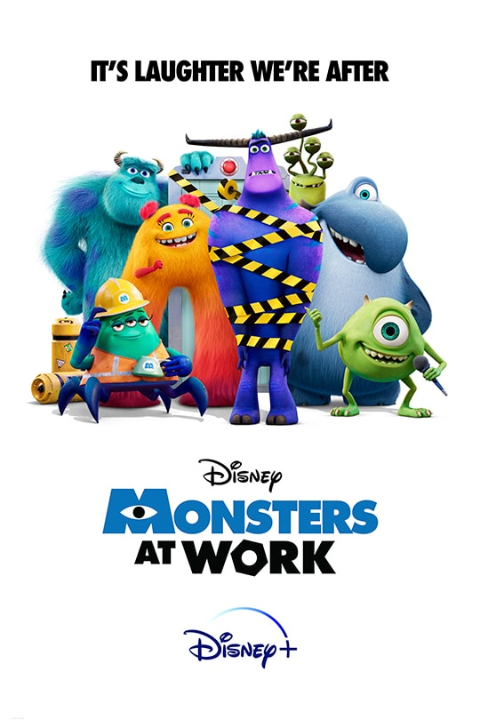 It's Laughter We're After | Disney | Monsters at Work | Disney+ | movie poster