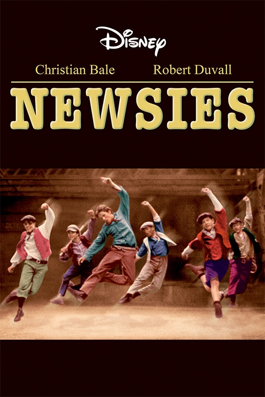 Disney | Christian Bale, Robert Duvall | Newsies movie poster