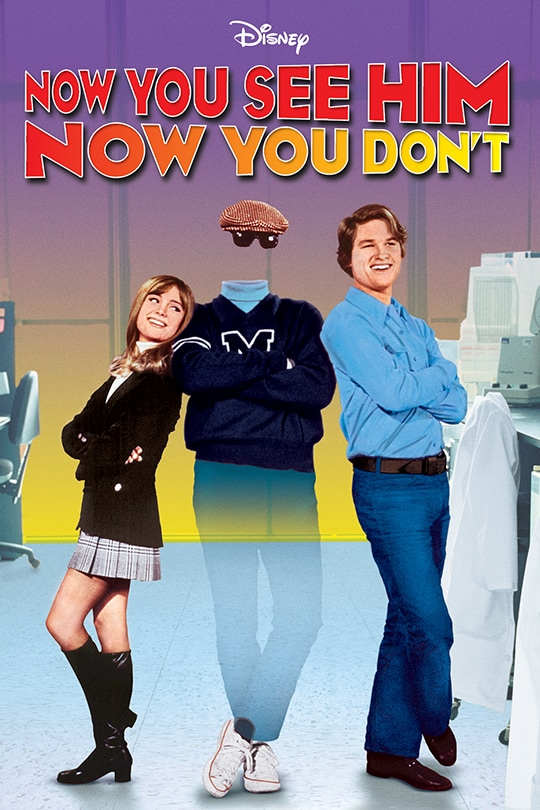 Disney Now You See Him, Now You Don't movie poster