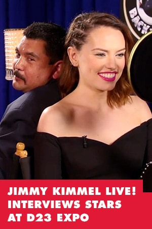 HILLARIOUS: JIMMY KIMMEL LIVE! INTERVIEWS STARS AT D23 EXPO
