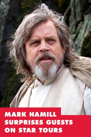 Watch Mark Hamill surprise guest on Star Tours
