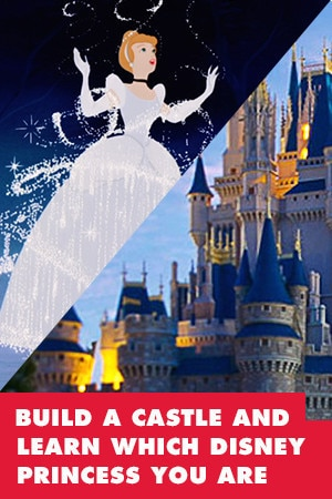 BUILD A CASTLE AND LEARN WHICH DISNEY PRINCESS YOU ARE