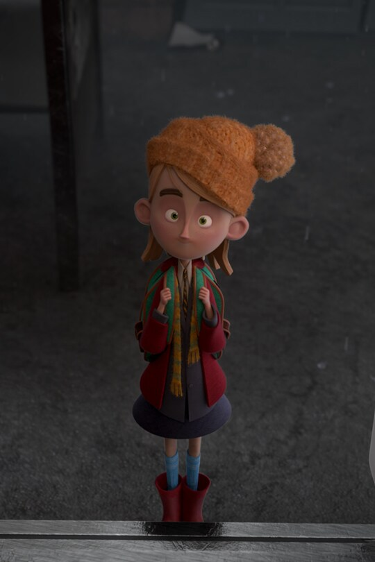 A girl standing in front of a platform dressed in winter clothes | From the Disney Short Circuit film No. 2 to Kettering