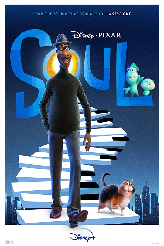 Disney•Pixar | Soul | Streaming exclusively December 25 on Disney+ movie poster