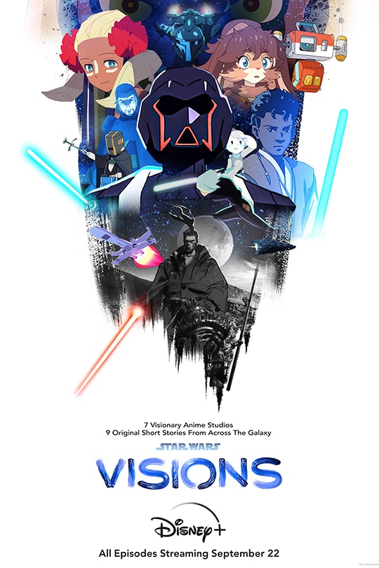 7 visionary anime studios | 9 original short stories from across the galaxy | Star Wars: Visions | Disney+ | All episodes streaming September 22