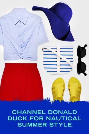 CHANNEL DONALD DUCK FOR NAUTICAL SUMMER STYLE
