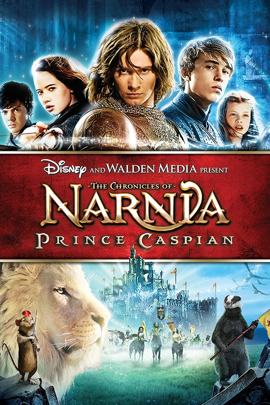 Disney and Walden Media Present | The Chronicles of Narnia: Prince Caspian movie poster.
