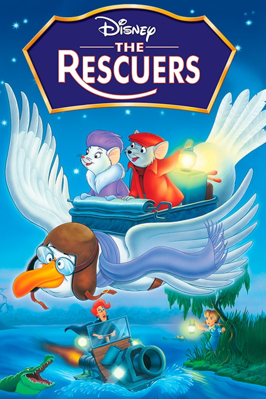Disney The Rescuers movie poster